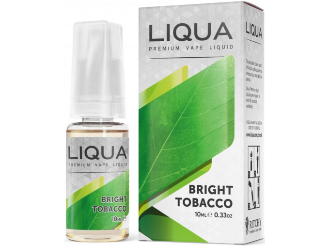 ritchyliqua liquid liqua cz elements bright tobacco 10ml0mg cista tabakova prichut