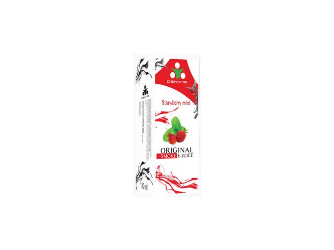 E liquid Dekang Strawberry mint (jahoda s mátou) 0