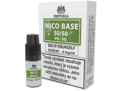nikotinova baze imperia 5x10ml pg50vg50 6mg