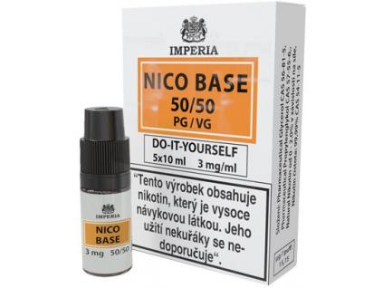 nikotinova baze imperia 5x10ml pg50vg50 3mg