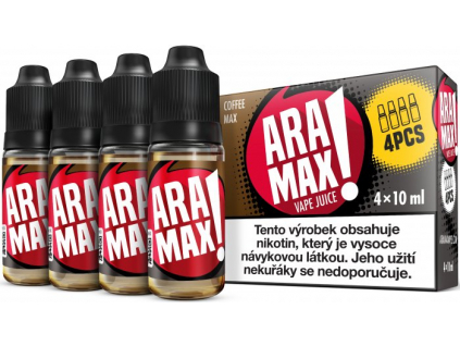 liquid aramax 4pack coffee max 4x10ml3mg