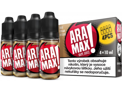 liquid aramax 4pack max cream dessert 4x10ml3mg