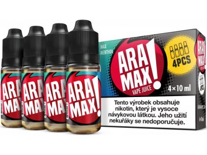 liquid aramax 4pack max menthol 4x10ml3mg