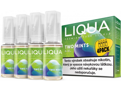liquid liqua cz elements 4pack two mints 4x10ml12mg chut maty a mentolu