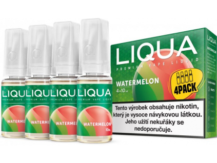 liquid liqua cz elements 4pack watermellon 4x10ml3mg vodni meloun
